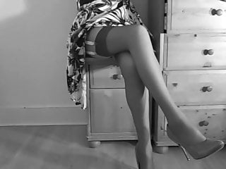 Wearing pantyhose and panty-girdle Retro panties and girdle