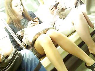 Discreet adult friends - Discreet crossed legs masturbation on subway