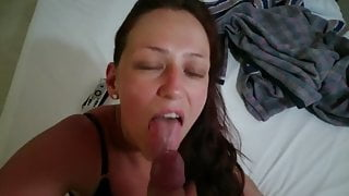 Messy Facial For My Hot Wife - POV