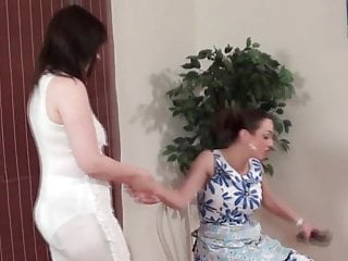 Spanked over my knee mommy Over step-moms knee