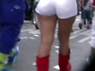 Carnival sex video Latina booty, jeans shorts, perfect ass, carnival booty,