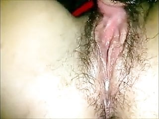 Muscle stimulation orgasm Big clit stimulated make hairy cunt gush abundantly