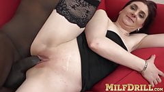 Mature pussy Silvia Muller hammered hard by big black cock