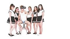 Michael Vegas Has VR Orgy with Babes in School Uniforms