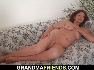 Cock lady old suck - Old lady sucking and riding two cocks