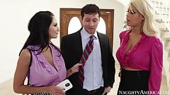 naughty america Bridgette B. and Ava Addams fucking