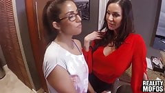 Horny Kendra Lust and her lover share a tight teen pussy