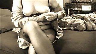 MILF Wife Pantyhose Foot Fetish Pt 1 He Cums