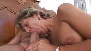 Granny's Bulging Asshole Lick & Fuck
