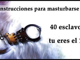 Amos esclavos gay Joi - 40 esclavos y muchas amas. spanish audio.