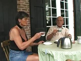 Host bikinis Old couple hosts younger couple