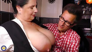 German style - Big step moms fucks lucky client