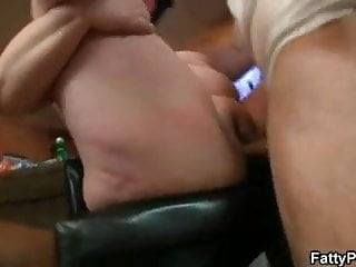 Fatty horny lady photo picture porn sex woman - Nasty fatty swallows two horny dicks