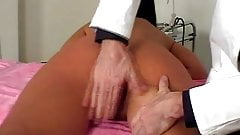 Girl examined and spanked by doctor