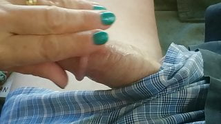 Mature wife hand job