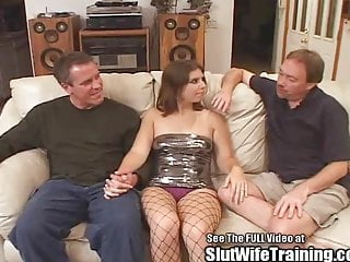 Shufuni double fuck - Hot young slut wife training double fuck