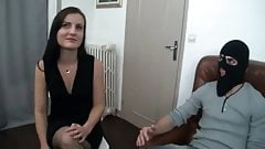 French Anaelle in threesome