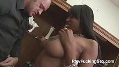 Raw Fucking Sex - Ebony Babe Stacie Lane Fucked Rough