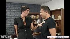 Busty brunette teacher Dylan Ryder fucking