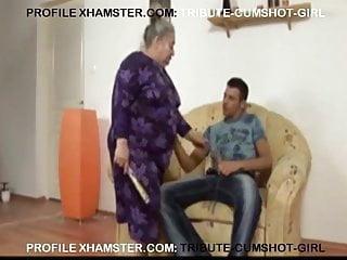 Granny fucking the boys Ugly granny fucking boy on the sofa.