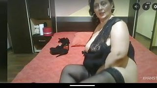 Granny bbw with a big ass and a pussy toy