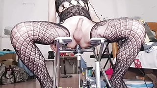 Asian sissy get prostate orgasm while fucking her ass