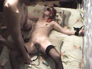 Clitoral and vaginal vibrators Slave helgla clamped and vacuumed clitors