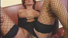 GILF in Fishnets Fucked