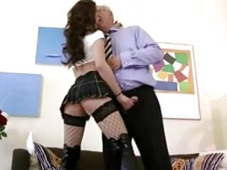Teen pussy and old guy Brunette babe getting pussy pounded by this old guy