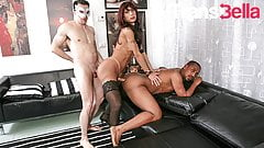 TRANSBELLA Hot Epic Trio With Sexy Tranny Karla Ciccarelli