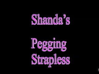 Pegging amateur video Pegging... strapless with shanda