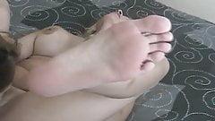 Monica Sucks Feet and Eats Pussy