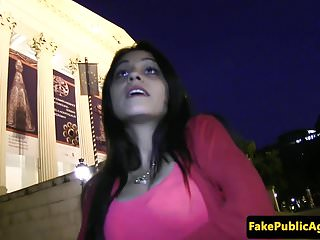Paid for public sex Hungarian babe pickedup and paid for sex