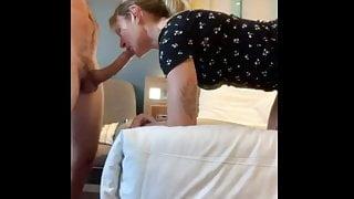Homemade video, cheating milf gives bwc blowjob, fuck, creampie, big cumshot