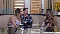 Домохозяйка с большими сиськами трахает шлюшки друга - Naughty America