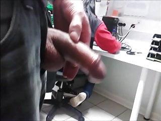 Milfs shocked by seeing big dick My big dick fash, coworker sees through hairrr