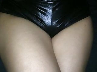 Sex girls vinyl latex moon shiny Hot girls ass in shiny shorts