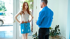 DADDY4K. After quarrel with BF comely redhead seduces