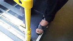 Asian granny hot nylon feet and long toenails 02