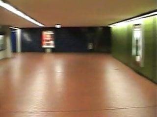 Couple having sex on u-bahn underground U-bahn-station