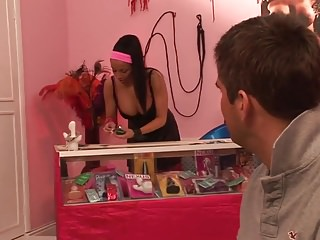 Adult shop prague - Husband tries condoms at adult shop