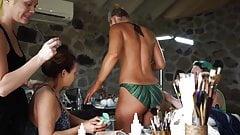 Caroline Wozniacki & Lindsey Vonn - Body Paint SI Swimsuit