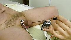 Femdom wife milks husbands sperm with E-stim sound