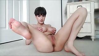 Cute Rylie Haze masturbates on webcam, upscaled to 4K