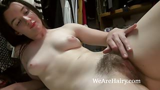 Gabby Smith tries on clothes and strips naked