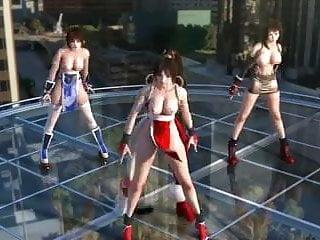 Tifa lockheart xxx Tifa, kasumi mai dancing topless