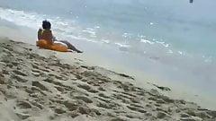 Candid beach scam 2