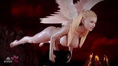 Two Hot Futa Arch Angels Deepthroat