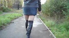 black stockings suspender belt