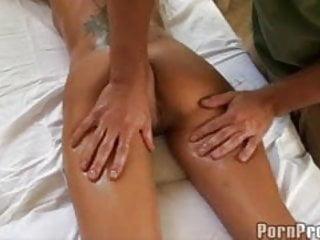 Porn oily massage Busty brunette oily massage